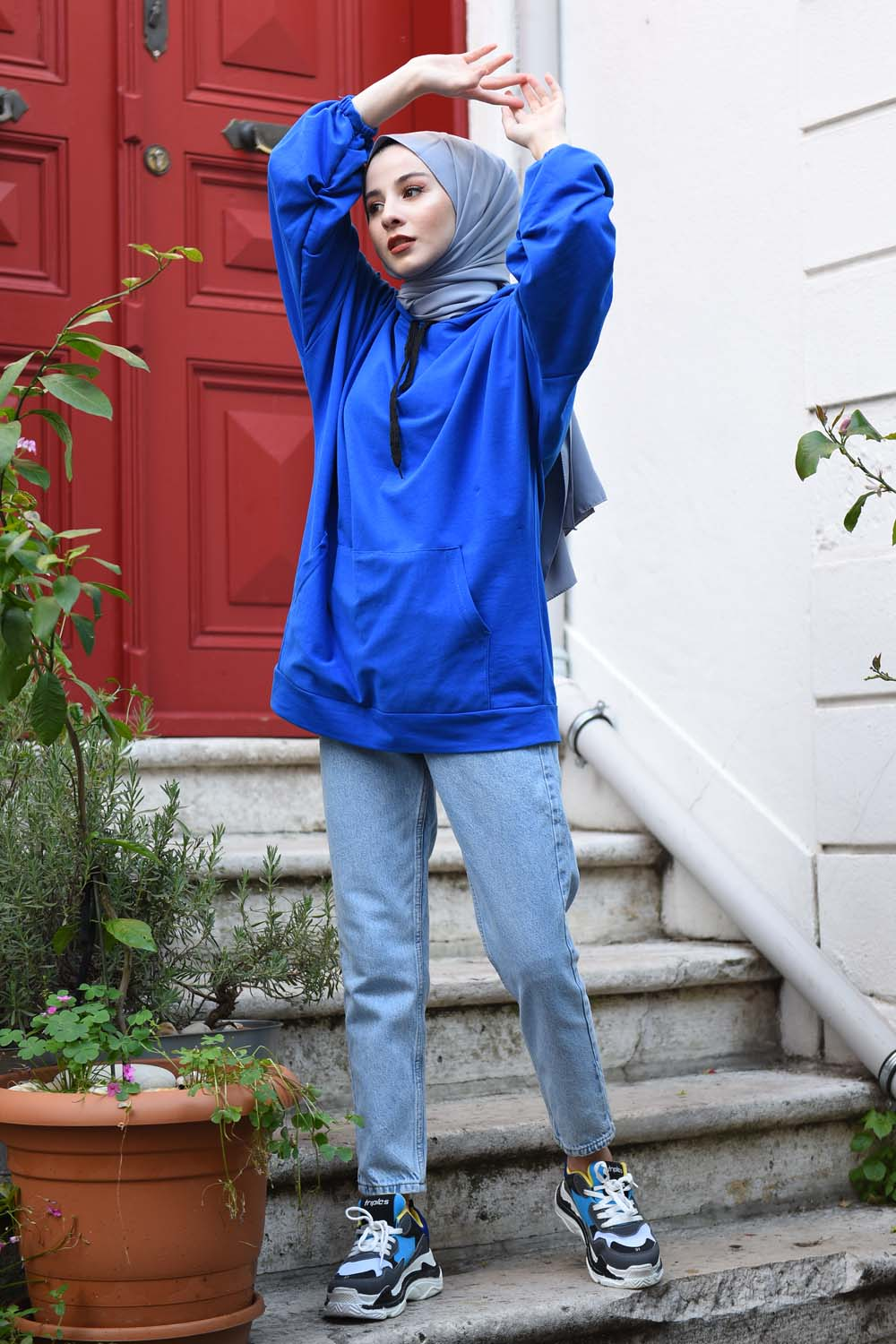 Yeni Mom Jean + Karpuz Kol Sweat