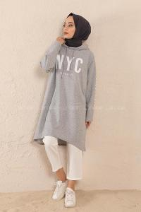 Modalamelif Nyc Baskılı Sweat Gri