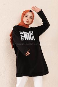 Modalamelif Just Be Nice Sweatshirt Siyah