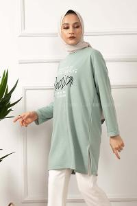 Modalamelif When You Do Baskılı Sweatshirt Mint