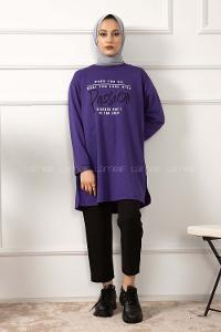 Modalamelif When You Do Baskılı Sweatshirt Mor
